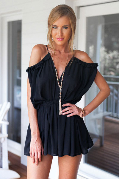 Stylish Romper Hot Sale Sexy V-neck Spaghetti Strap Jumpsuit