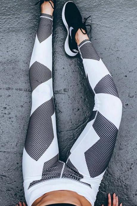 Slim Hot Sale Geometric Print Yoga Sports Leggings