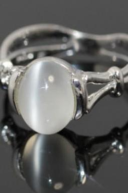 Fashion 2016 Gift!!! The Twilight Saga Bella's 18k White Gold Plated GP Moonstone Women's