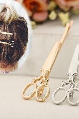 New Personalized Creative Adorable Super Small Scissors Hairpin Clip One Word Clip