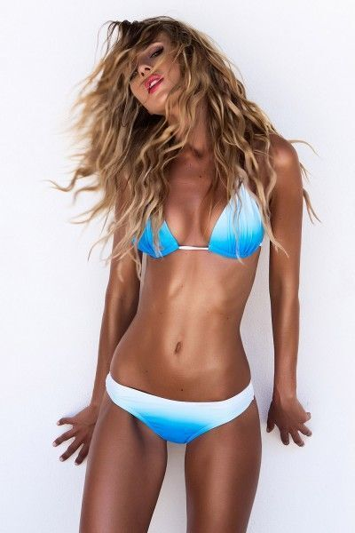 2017 New Gradient Color Bikini Sexy Woman Swimwear