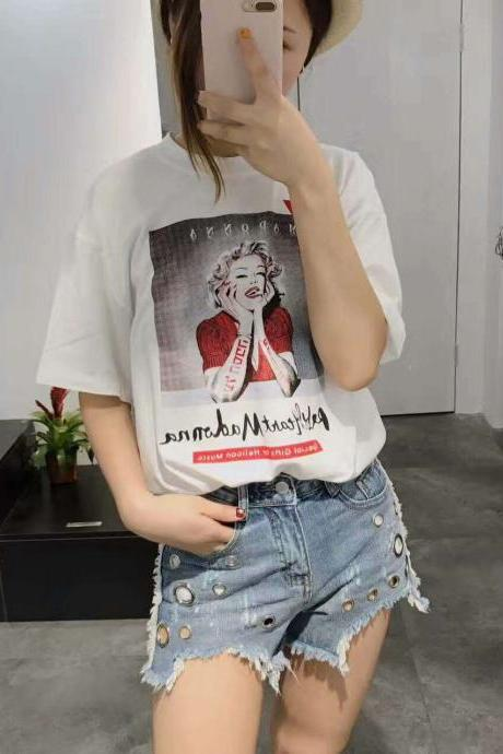 New Monroe shirt with holes T-shirt